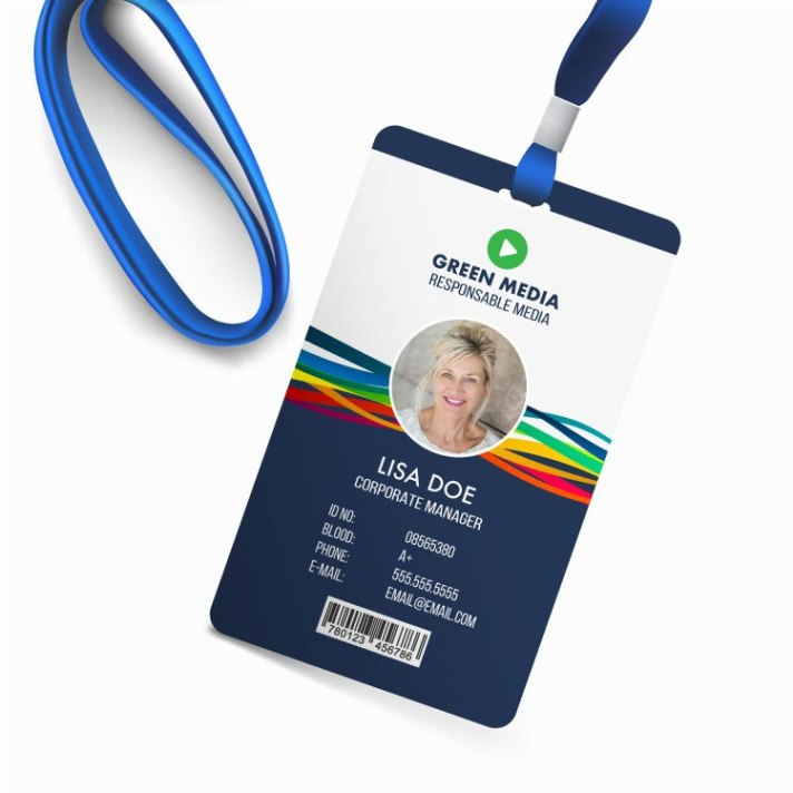 Large Plastic ID Badges Photo