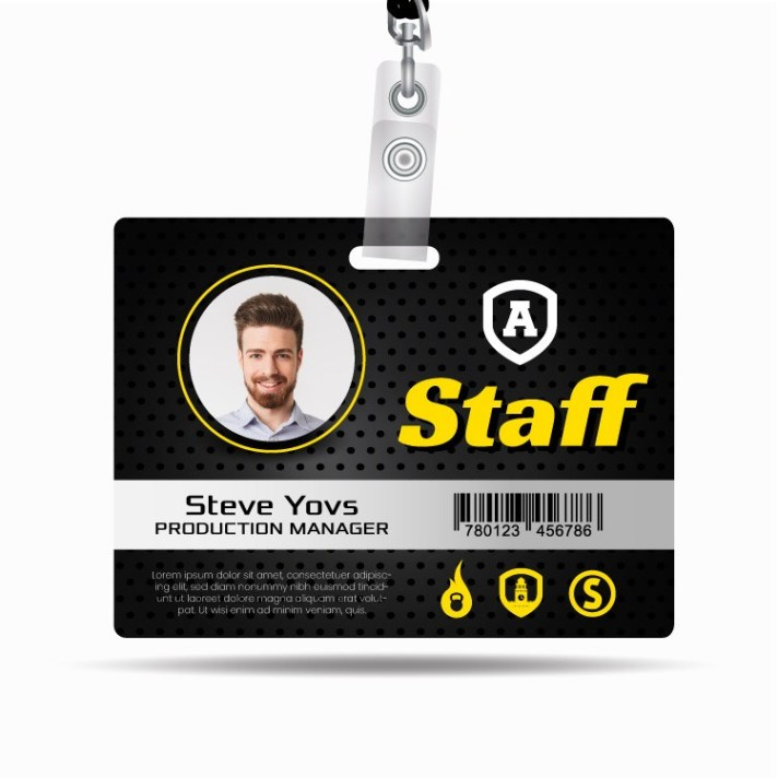 Plastic Medium ID Badges