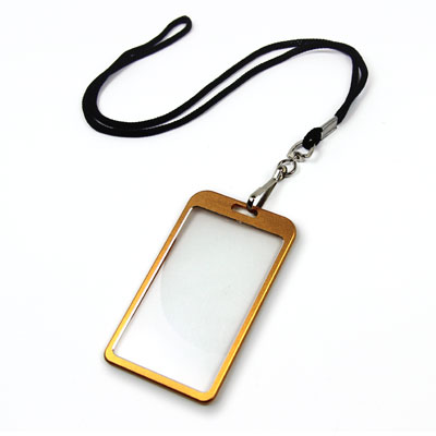Gold Aluminum Card Holder Photo