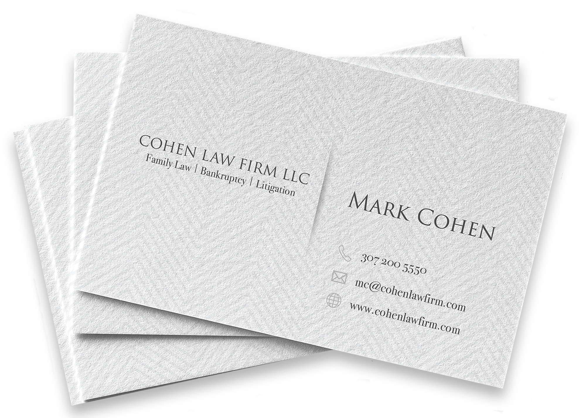 Linen Business Card Photo